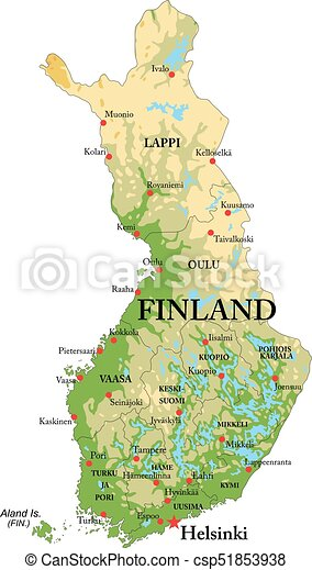 Finland physical map - csp51853938