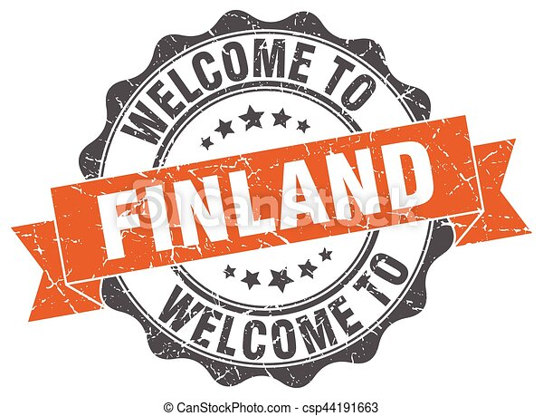 Finland round ribbon seal - csp44191663