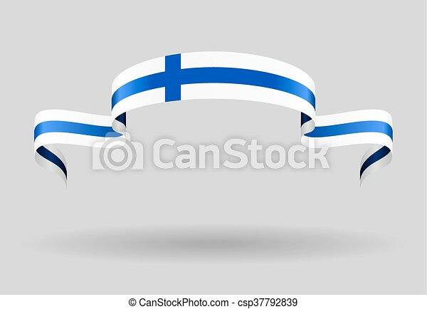 Finnish flag background. Vector illustration. - csp37792839