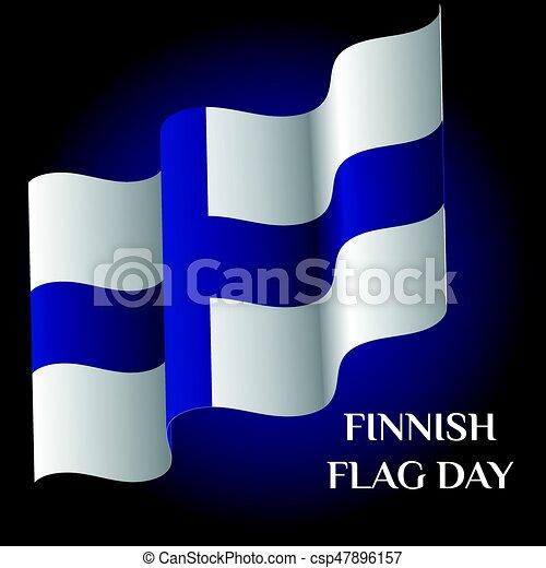 Finnish Flag Day - csp47896157