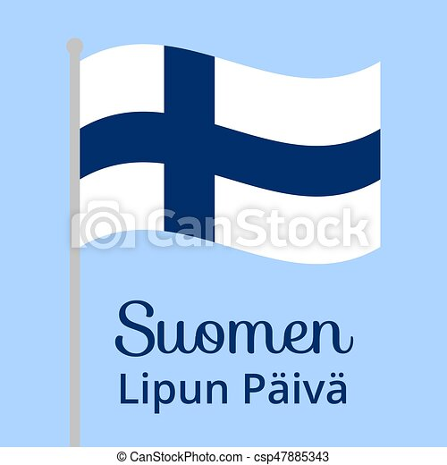 Finnish flag day - csp47885343