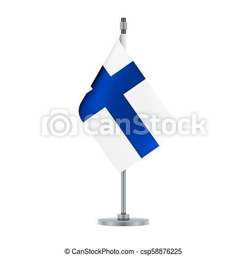 Finnish flag, flat layout, vector illustration - csp58876225