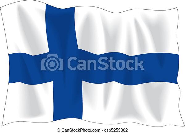 Finnish flag - csp5253302