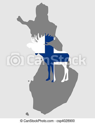 Finnish moose - csp4028900