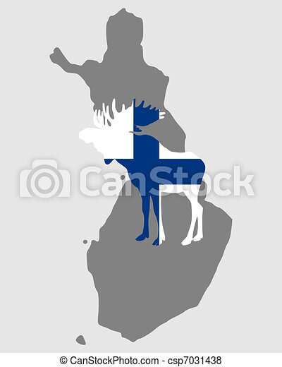 Finnish moose - csp7031438