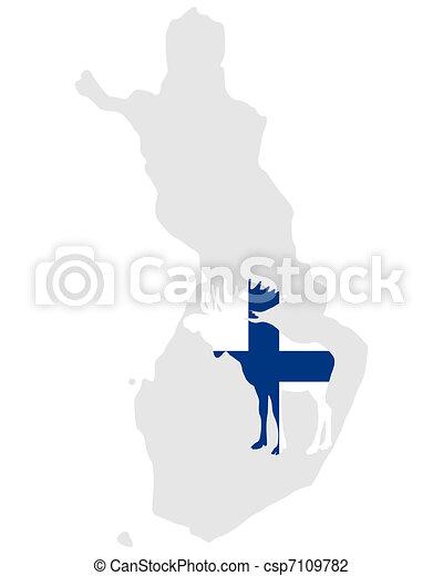 Finnish moose - csp7109782