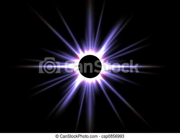 finsternis, sonnenkollektoren - csp0856993