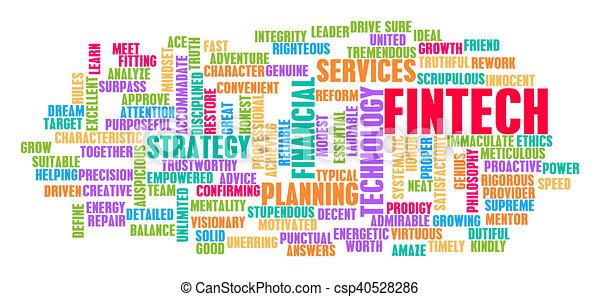 fintech, 概念, 単語, 雲 - csp40528286