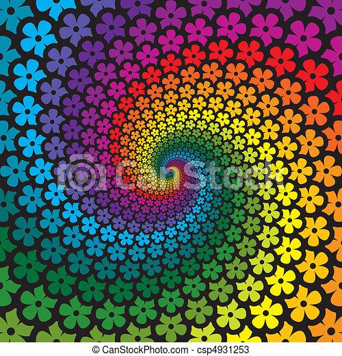 fiore, colorito, spirale, fondo - csp4931253