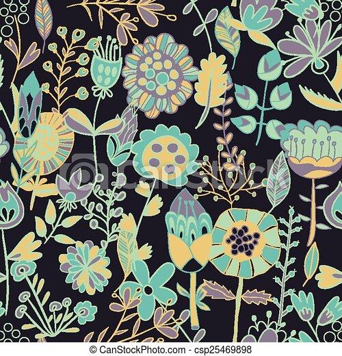 fiore, seamless, modello, struttura - csp25469898