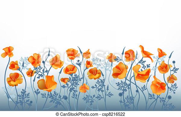 fiori arancia - csp8216522