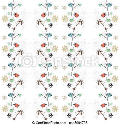 fiori, coccinelle - csp5094736