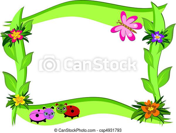 fiori, cornice, spesso, errori del software - csp4931793
