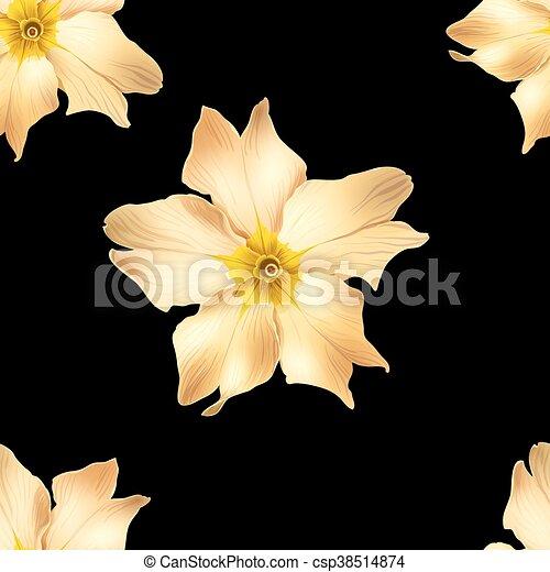 fiori, oro - csp38514874