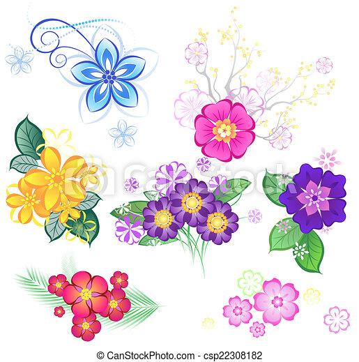 Colorato stilizzato fondo fiori bianchi for Fiori stilizzati colorati