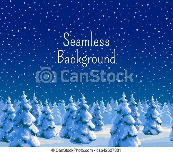 Fir forest seamless background - csp42627381