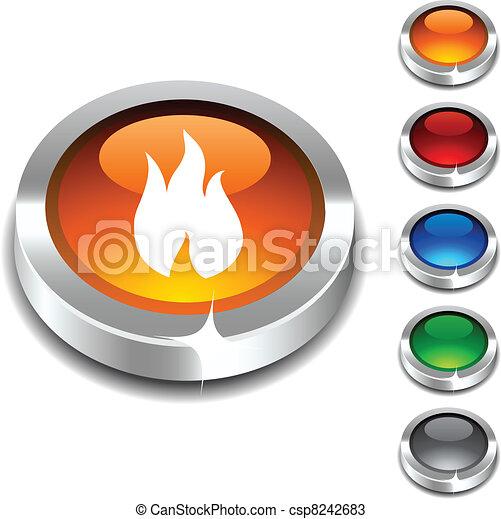 Fire 3d button. - csp8242683