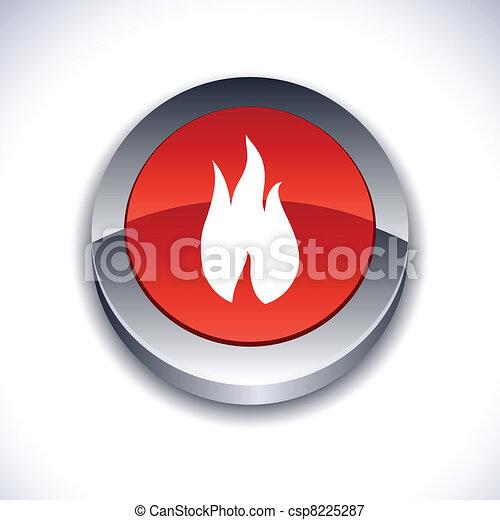 Fire 3d button. - csp8225287