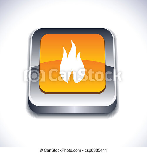 Fire 3d button. - csp8385441