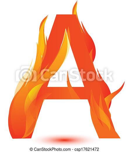 fire a letter image design vector