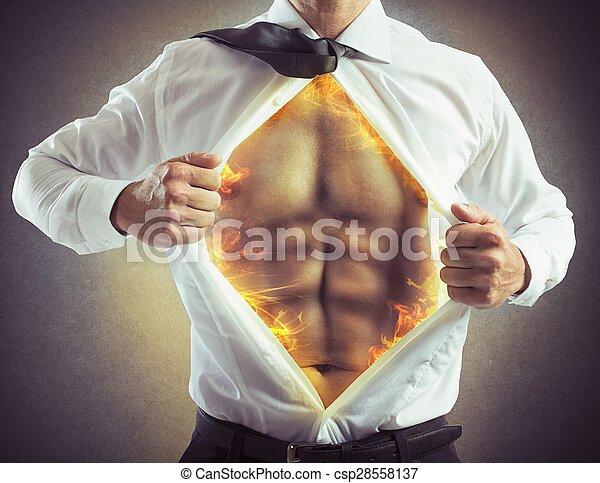 Fire abs businessman - csp28558137