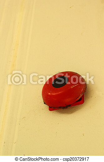 Fire alarm on a wall - csp20372917