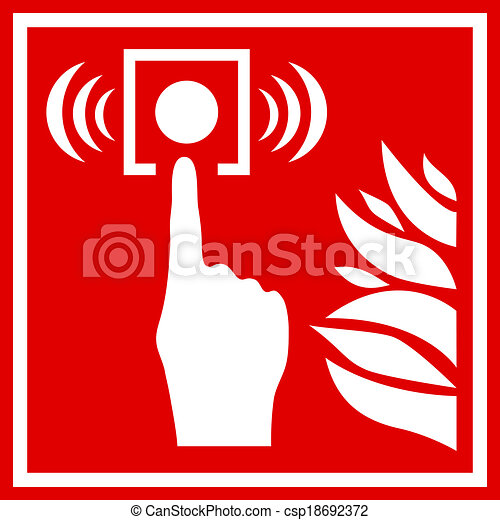 Fire alarm sign - csp18692372