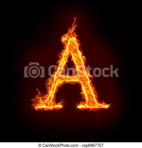 fire alphabets, A - csp6967707