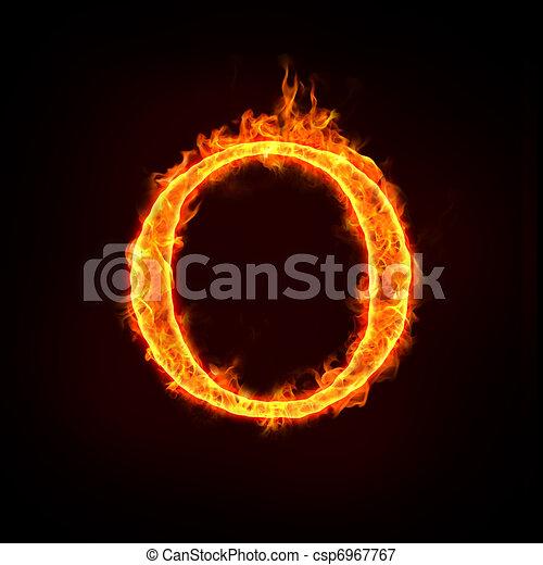 fire alphabets, O - csp6967767