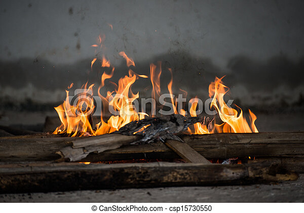 Fire and Frame with firewood 5 - csp15730550