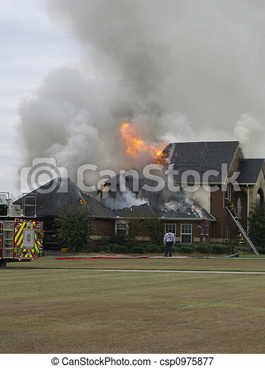 Fire at nice house - csp0975877