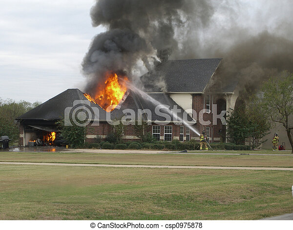 Fire at nice house - csp0975878