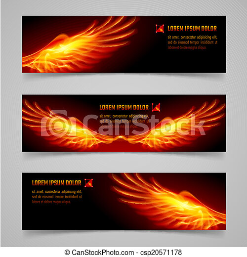 Fire banners - csp20571178