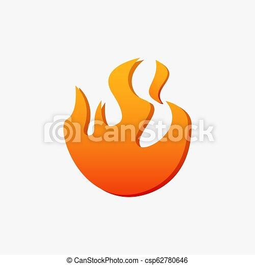 Fire blaze logo - csp62780646