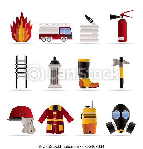 fire-brigade and fireman equipment  - csp5482634