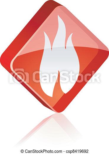 Fire button. - csp8419692