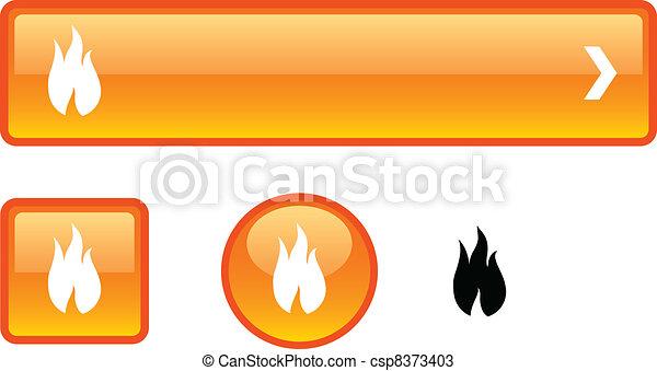 Fire button set. - csp8373403