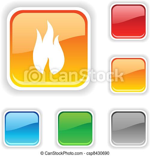 Fire button. - csp8430690