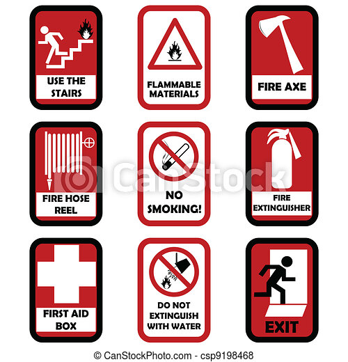 Fire caution signs - csp9198468
