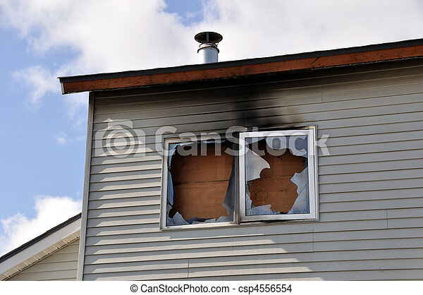 Fire Damage to Apartment Complex  - csp4556554
