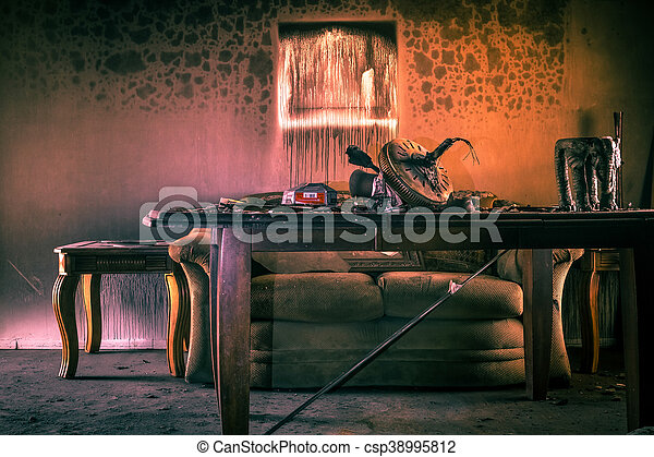 Fire Damaged Furniture - csp38995812