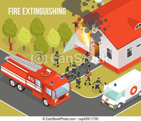 Fire Department Composition - csp43911730