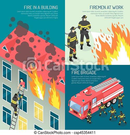 Fire Department Design Concept Set - csp45354411