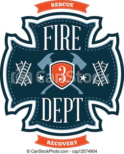 Fire department emblem - csp12574904