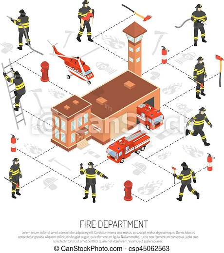 Fire Department Infographic - csp45062563