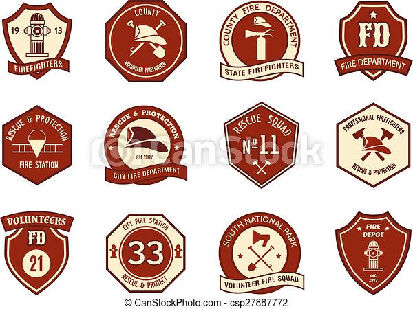 Fire department logo and badges - csp27887772
