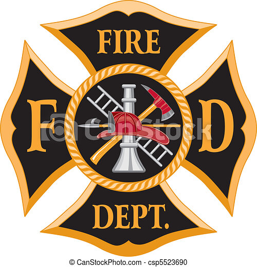 Fire Department Maltese Cross - csp5523690