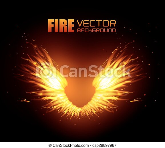 Fire digital design. - csp29897967