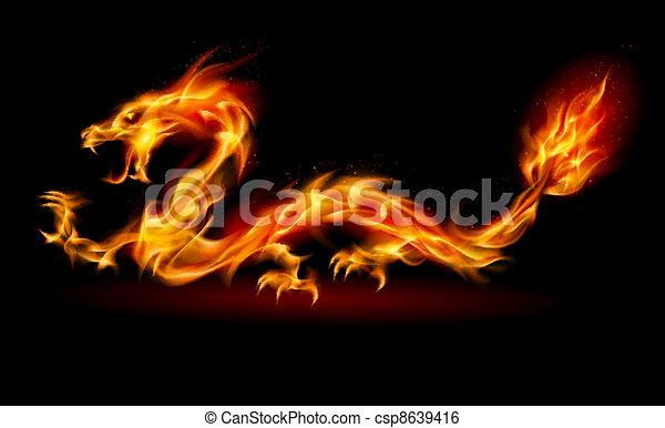 Fire Dragon - csp8639416