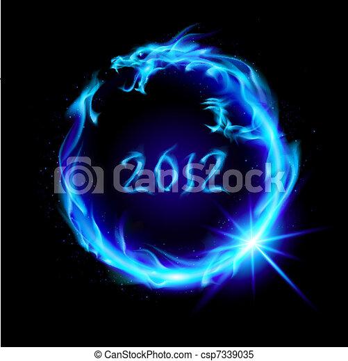 Fire Dragon - csp7339035